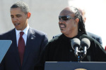 Stevie Wonder with the President