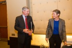 Sally Jewell and Senator Whitehouse outside the Conference room