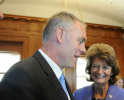 Secretary Ryan Zinke speaks with Senator Murkowski