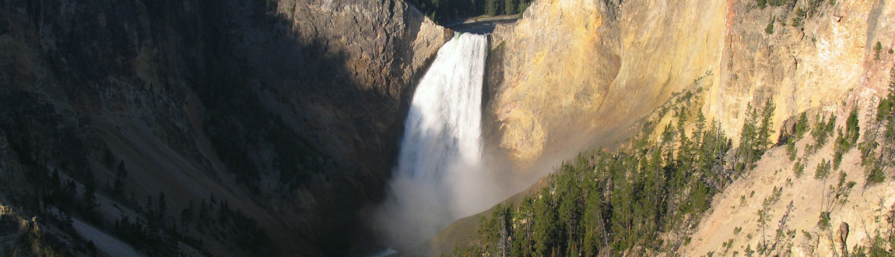 Yellowstone River - Lower Falls - Yellowstone National Park