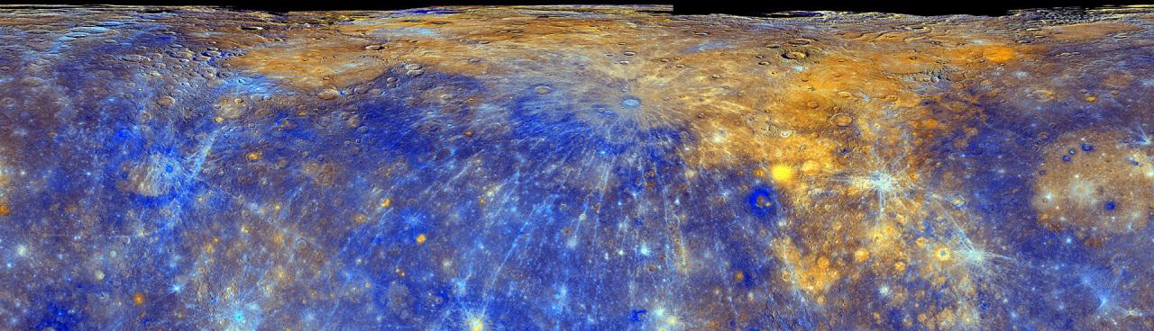 Mercury MESSENGER MDIS Basemap Enhanced Color Global Mosaic