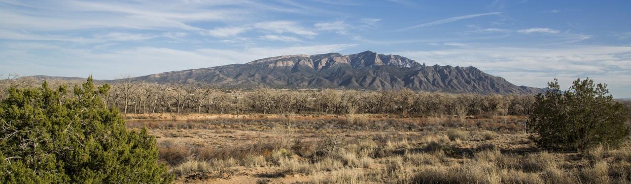 Albuquerque, New Mexico landscape with mountains
