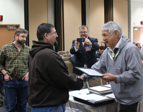Council members receiving Service Awards