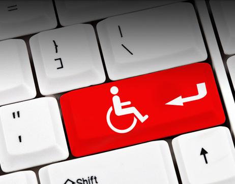 handicap symbol on keyboard