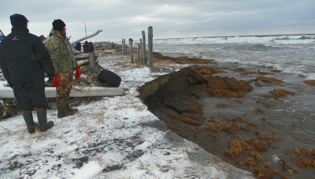 Coastal erosion in Shishmaref