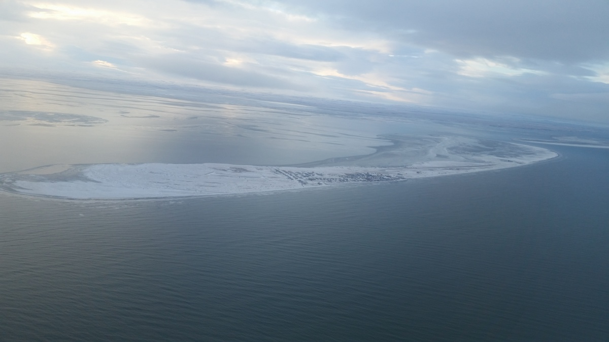 Aerial view of Shishmaref