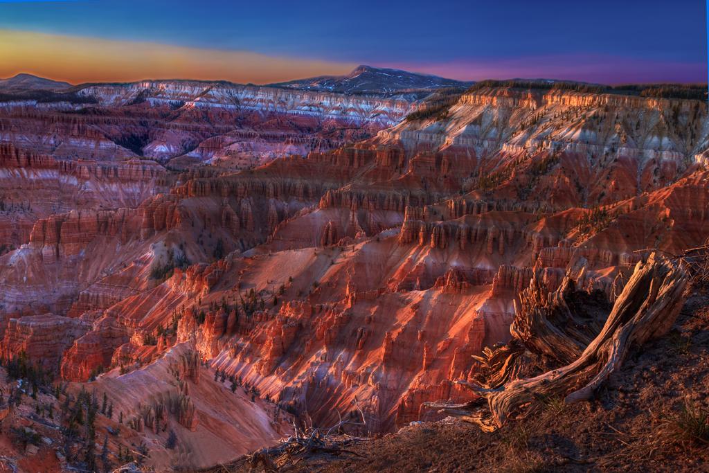 colorful sandstone cliffs
