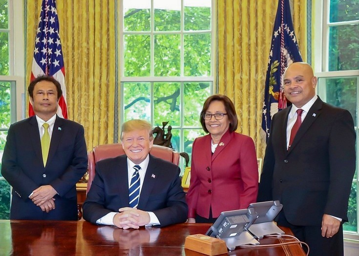 President Donald J. Trump with the Presidents of Palau, Marshall Islands, and the Federated States of Micronesia