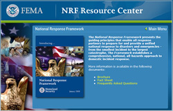 National Response Framework Website