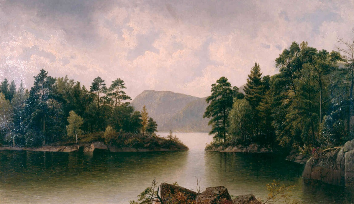 painting of islands and water