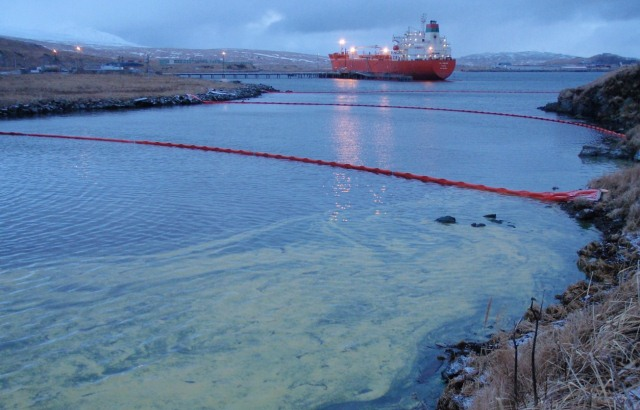 spilled diesel in January 2010 in Helmet Creek, Adak Island, Alaska